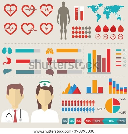 Medical elements collection. - stock vector