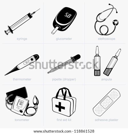 Medical equipment - stock vector