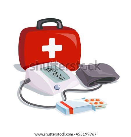 medical equipment. health care. blood pressure device. vector illustration