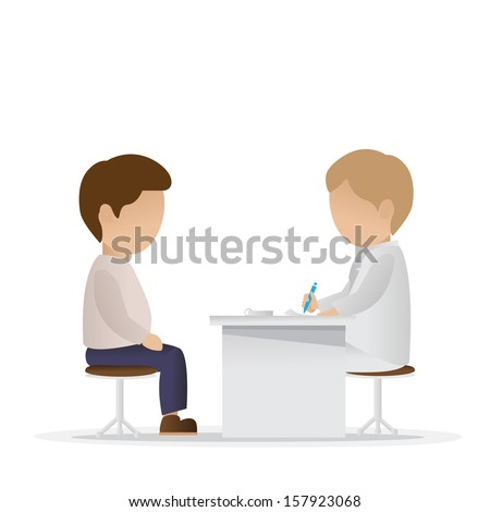 Medical Examination - Isolated On White Background - Vector Illustration, Graphic Design Editable For Your Design - stock vector