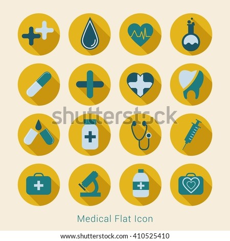 Medical flat icon, medical icon circle, medical icon art, medical icon app, medical icon web, Vector flat illustration