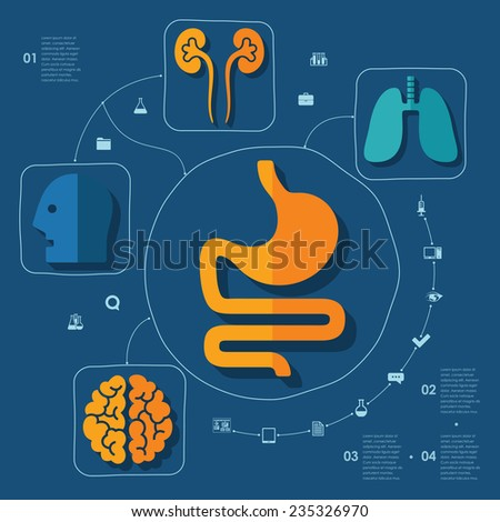 Medical flat infographic - stock vector