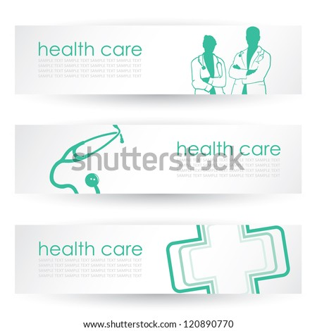 Medical headers - vector illustration - stock vector