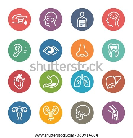 Medical & Health Care Specialties Icons Set 1 - Dot Series  - stock vector