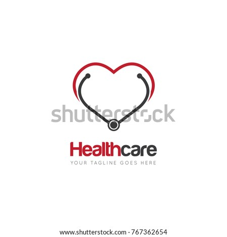heart health stethoscope stock vector 718637995 - shutterstock, Powerpoint templates