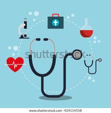 medical healthcare design  - stock vector