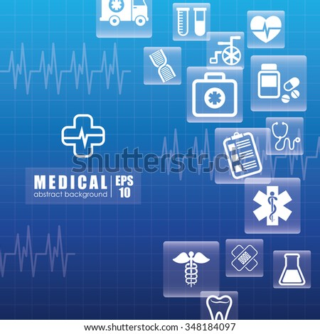 Medical healthcare graphic design, vector illustration eps10