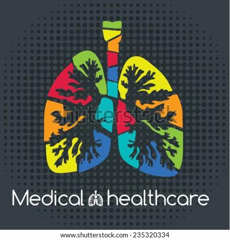 medical healthcare. lung Icon. Vector illustration. medical design - stock vector