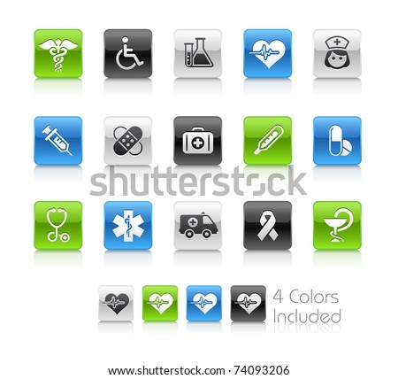 Medical & Heath Care // Clean Series -------It includes 4 color versions for each icon in different layers --------- - stock vector