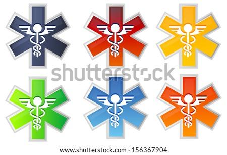 Medical Icon - Caduceus - Illustration - stock vector