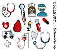 Medical icon over white background vector illustration - stock photo