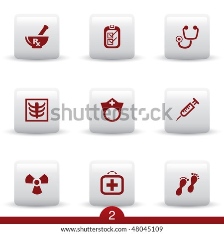 Medical icon series 2 - stock vector