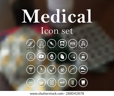 Medical icon set. EPS 10 vector illustration with mesh and without transparency. - stock vector