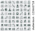 Medical icon set,Vector - stock vector
