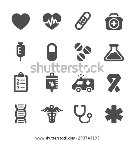 medical icon set, vector eps10.
