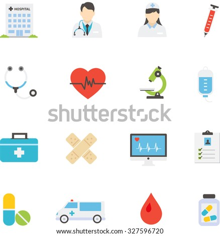 Medical icon set vector  illustrations