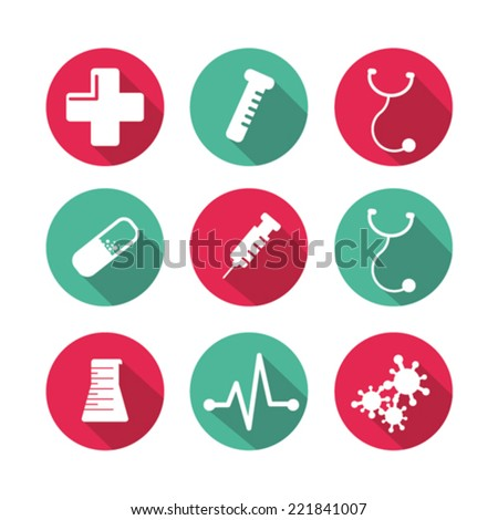Medical icon sets in vector