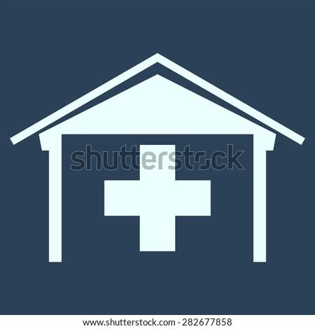 Medical icon with  hospital symbol. Home medicine symbol. - stock vector