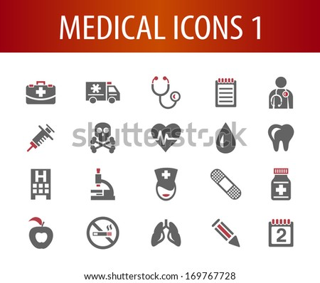 Medical Icons 1. - stock vector