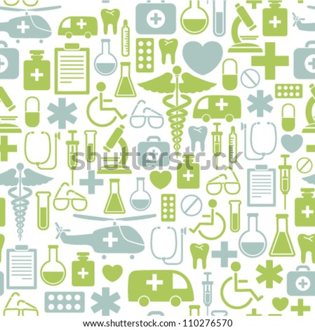 Medical Icons Background - stock vector