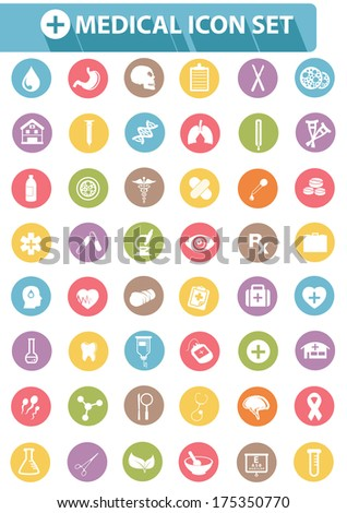 Medical icons,Colorful version,vector