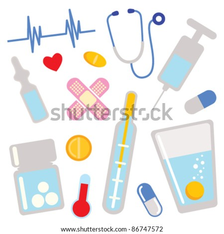 medical icons. design elements. - stock vector