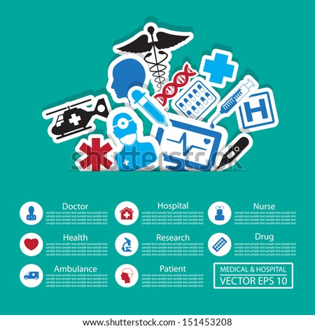 Medical icons ,Illustration eps 10 - stock vector