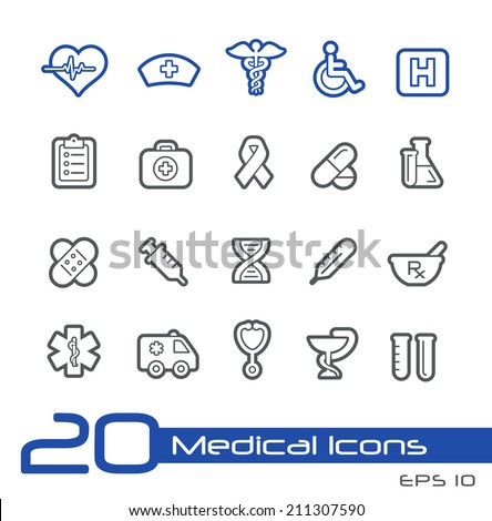 Medical Icons // Line Series - stock vector