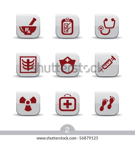 Medical icons no.2..smooth series - stock vector