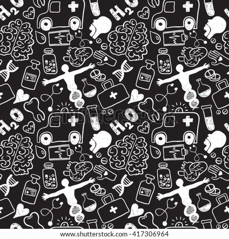 Medical Icons seamless pattern