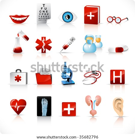 medical icons set 2 - stock vector
