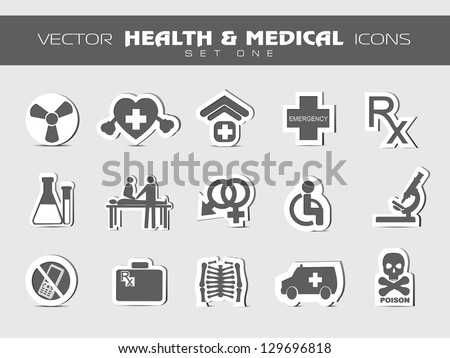 Medical icons set. EPS 10. - stock vector