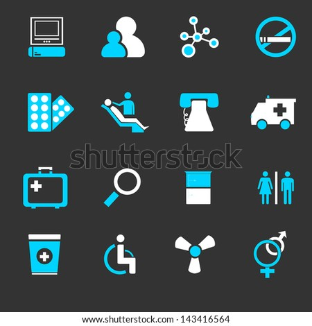 Medical icons set . EPS 10 - stock vector