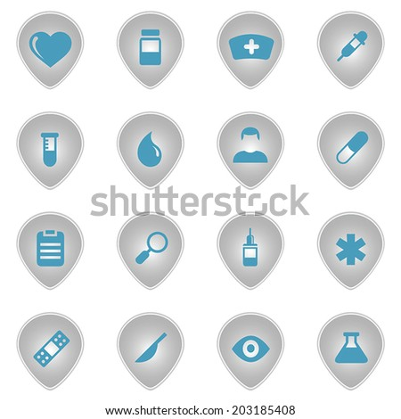 Medical icons set 16 in 1