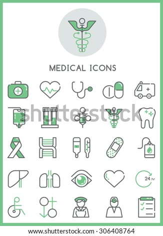 Medical icons set vector design concept - stock vector