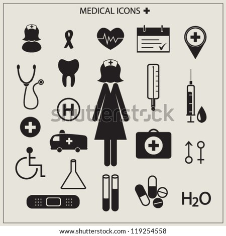 Medical icons vector illustration - stock vector