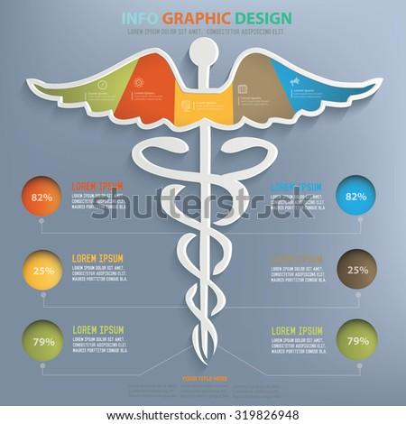 Medical info graphic design,clean vector - stock vector