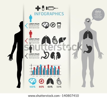Infographic Ideas infographic lines : Medical Infographic Design Template Can Be Stock Vector 141801907 ...