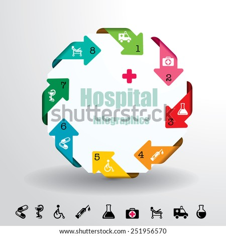Medical infographic elements vector background. - stock vector