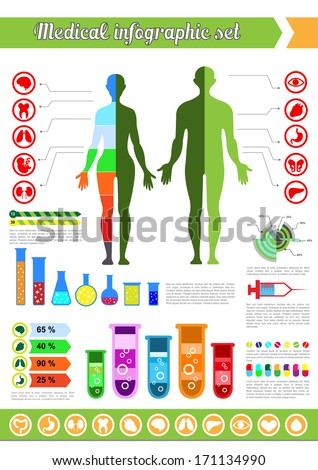 Medical infographic set - stock vector