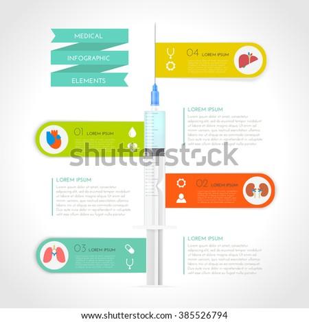 Medical Infographic set. Vector illustration - stock vector