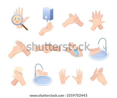 washing hands cartoon stock images royalty free images. Black Bedroom Furniture Sets. Home Design Ideas