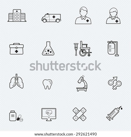 Medical line icon Vector illustration - stock vector