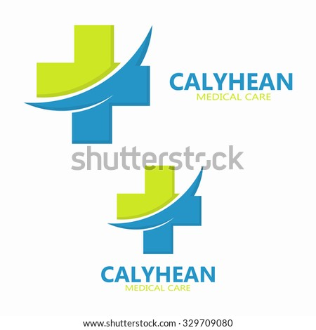 Medical logo design template - stock vector