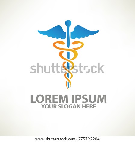 Medical logo template design on clean background,vector - stock vector