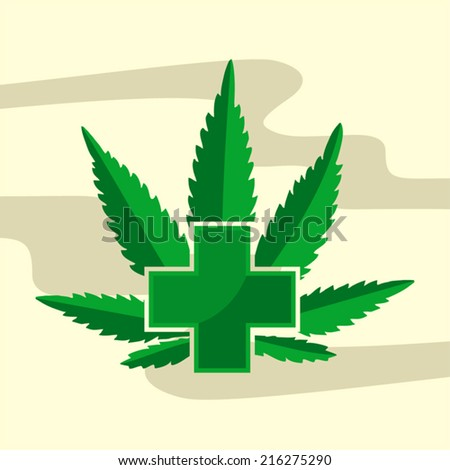 Medical Marijuana Sign - stock vector