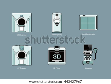 Medical modality icon sets. Vector illustration.