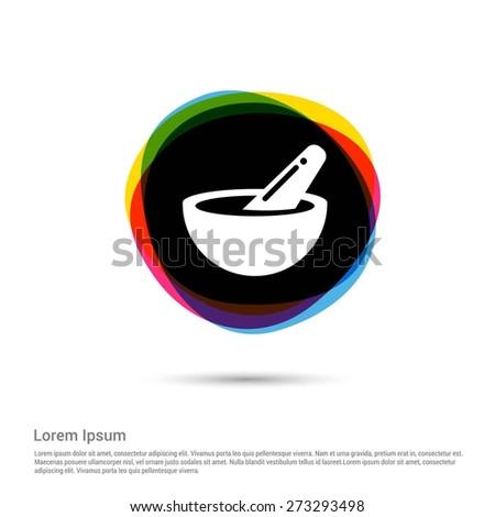 medical modern icon, White pictogram icon creative circle Multicolor background. Vector illustration. Flat icon design style - stock vector