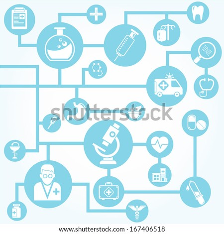 medical network background - stock vector