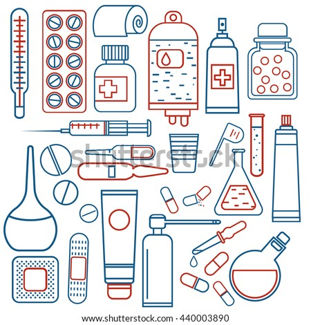 medical objects set